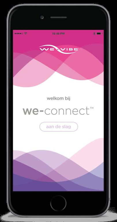 We-Connect voor Vibrator met App - startscherm Nederlands