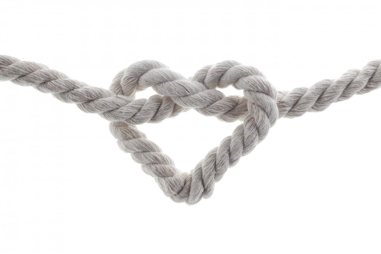 Bondage, hartvormige knoop