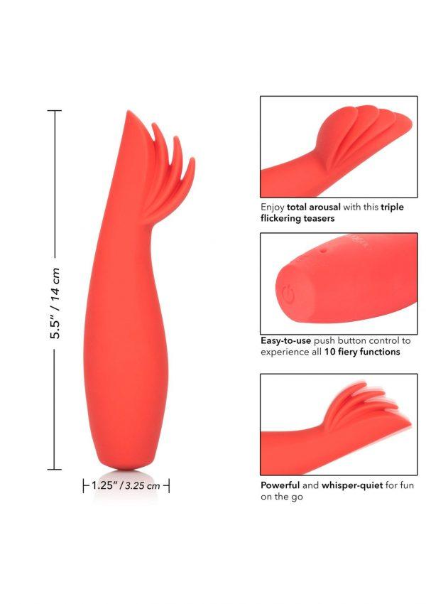 Blaze by Red Hot - Vibrator met 3 stimulerende tongetjes