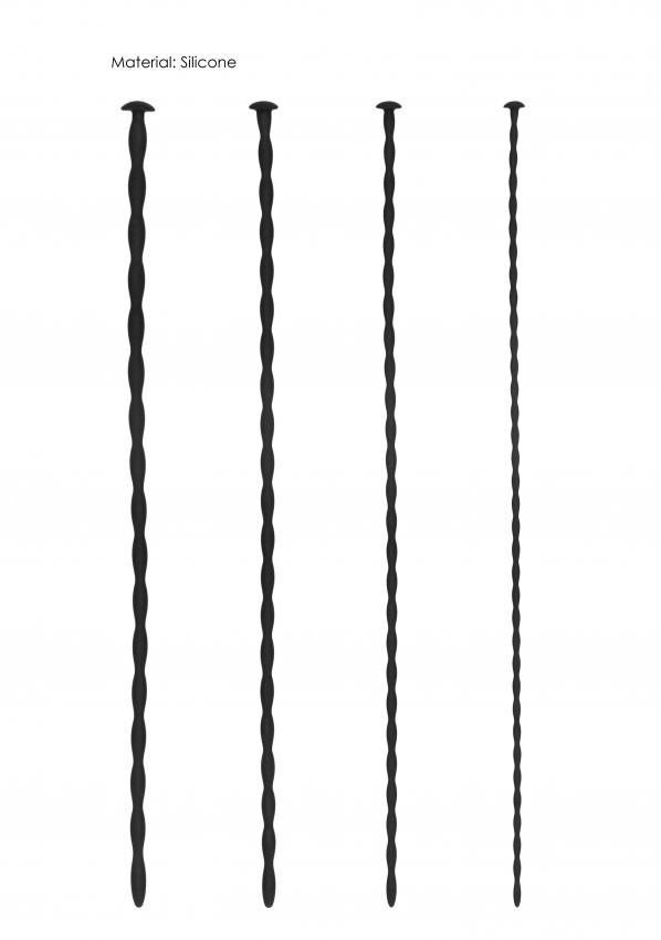 Lange Siliconen Sounds voor beginners - 4-delige set