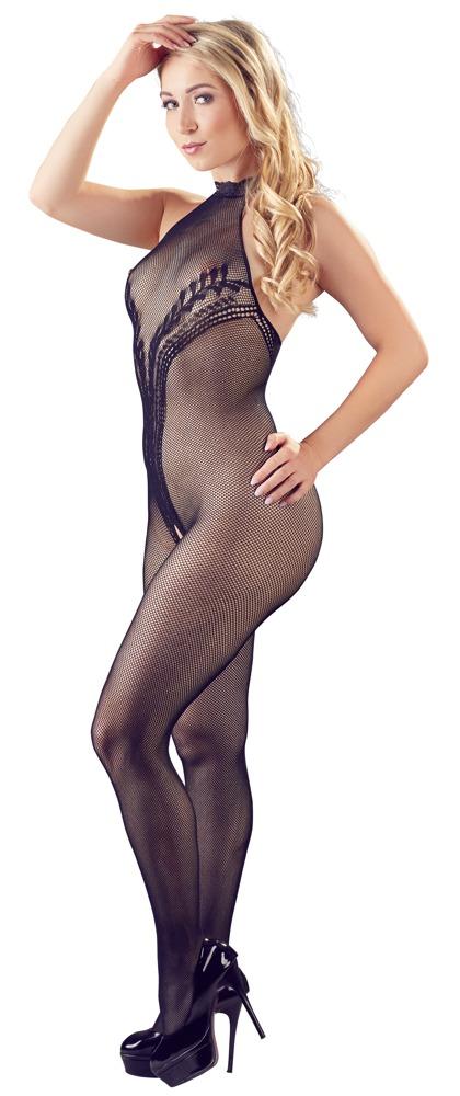 Sexy Netstof Catsuit met versieringen S-L