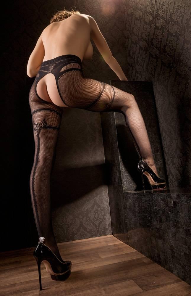 Image of Panty met open kruis en naad L/XL