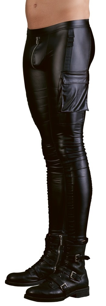 Stoere biker-look broek