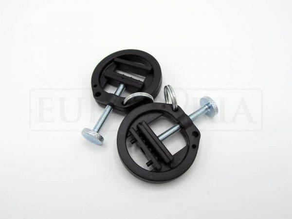 Verstelbare plastic tepelklemmen met ring