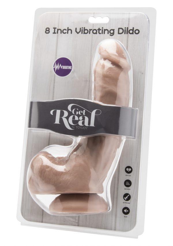 Vibrerende realistische dildo 8 inch