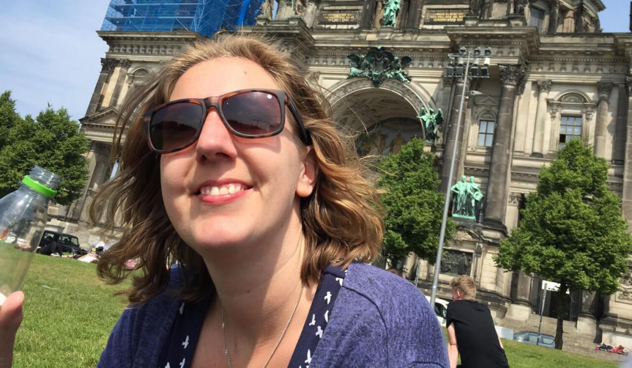 Fardau in Berlijn voor de Rijksdag